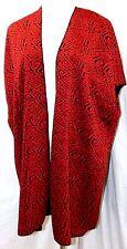 CHANCES R WOMEN PLUS SIZE 2X RED BLACK AZTEC CARDIGAN JACKET COAT TOP VEST