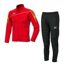 Mizuno Men Slim-Fit Full-Zip Suit Set Red Soccer Jacket Pant Jersey P2MC601262