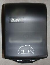 Paper Towel Roll Dispenser Renown 05157 Y-Notch Mechanical Black Translucent New