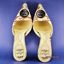 Coco Chanel Dressy / Casual Shoes Italian Size 38, US size 7.5 to 8. Excellent