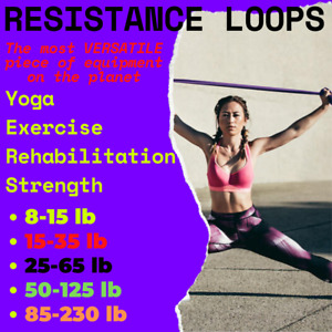 QUALITY Heavy Duty Resistance Band Loop Power Gym Fitness Exercise Yoga Workout