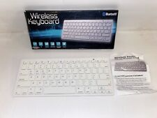 Wireless Bluetooth Keyboard 3.0 iPads, iPhones, Android, Laptop White