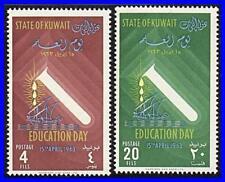 KUWAIT 1963 EDUCATION DAY MNH CHEMISTRY, SHIPS