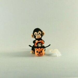 OOAK~Monkey~Jack-o-lantern~Halloween~Artist Doll~Baby Toy~Dollhouse~Cheryl Brown