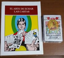 LIBRO DE BARAJA ESPANOLA CON  CARTAS INCLUIDAS GRATIS 50 !