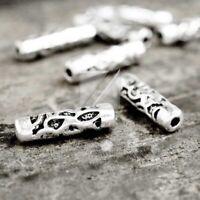 100pcs Lots Tibetan Silver Loose Spacer Charm Metal Bead Jewelry 15x4x4mm