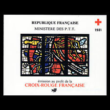 France 1981 - Red Cross Booklet Fine Art Stained Glass - Sc B540a MNH