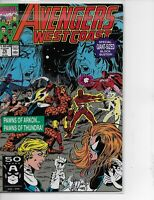 AVENGERS WEST COAST #75 MARVEL COMICS OTC 1991 Double-Sized issue!!