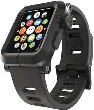 LUNATIK EPIK Polycarb. Case Silicone Strap for Apple Watch Series 1 - Black
