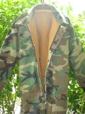 Vintage Camouflage Camo Coveralls Hunting Military Reversible Read Measurements