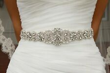 Crystal sashes for wedding, Wedding Bridal Belt, Braided Rhinestone Sash
