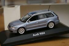 1:43 Audi RS4 Avant silber B5 1999,2000,2001 avus silver MINICHAMPS rs s 4