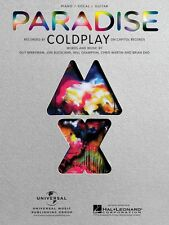 Paradise Sheet Music Piano Vocal Coldplay NEW 000354261