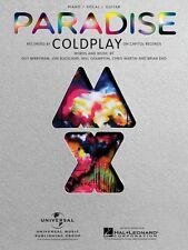 Paradise Sheet Music Piano Vocal Coldplay NEW 000354261