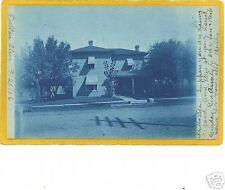 Cyanotype Real Photo Postcard RPPC - House Fulton Ohio