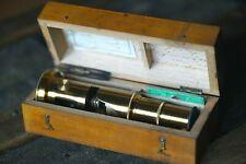 Antique Field Microscope with slides & Original Box