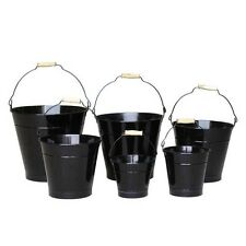 28cm Black Zinc Bucket/Metal/Tin/Container/Storage/Flower Pot/Home/Garden