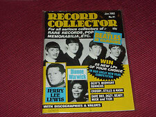 Record Collector Magazine  #41  Jan 1983  Beatles, Jerry Lee Lewis  cover