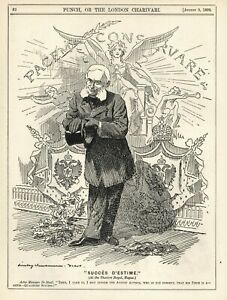FIRST HAGUE CONVENTION OF 1899 - British Punch Cartoon - BARON DE STAAL [Russia]