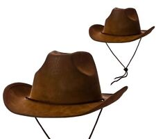 Cowboy Hat Mens Ladies Adults Super Deluxe Wild West Rodeo Cowboy Fancy Dress