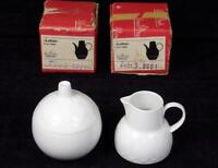 ROSENTHAL LOTUS WHITE SUGAR BOWL AND CREAMER WITH BOX