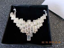 NIB New Cascading Baguettes Collar Necklace
