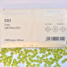 Swarovski® Crystal 6mm Bicone #5301- Color: Lt. Olivine - Factory Pack 360 PC