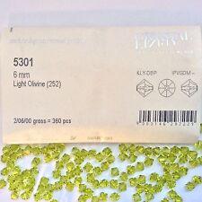 Swarovski® Crystal 6mm Bicone #5301- Color: Lt. Olivine - Factory Pack 360 PC