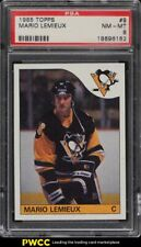 1985 Topps Hockey Mario Lemieux ROOKIE RC #9 PSA 8 NM-MT