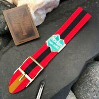 rare Perlon Reversible 1960s Military Diver Strap Vintage Watch Band nos 18mm