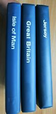 More details for collecta 22 ring gb one country binders albums in blue. various gb, iom & jersey