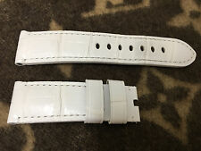 PANERAI ALLIGATOR SEMIMAT WHITE WATCH STRAP 24/22 AND 125/75 (MX0090SW) *USED*