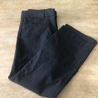 Women's Express Editor Dress Crop Pants Size 4R Black Career Stretch