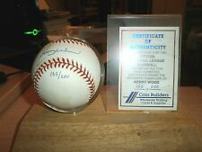 KERRY WOOD (Chicago Cubs) Signed Official MLB Baseball w/  COA 155 OF 500 LTD ED
