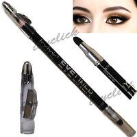 Technic Eyeliner with Smudger & Sharpener Black Eye Liner Pencil Makeup Crayon