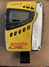 Sony Walkman Wm-Fs497 Yellow Sports Groove MegaBass & Belt/Strap Clip