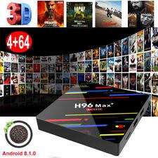 4+64G Quad Core Android 8.1.0 Oreo Smart TV BOX USB 3.0 4K DUAL WIFI MINI PC DE