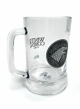 Official Game of Thrones Stark Glass Stein Wolf House Novelty TV Gift