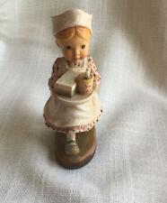 Anri 4� Sarah Kay Valentine Nurse Tender Loving Care Woodcarving #665/2000 Italy