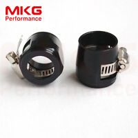 AN10-10AN Fuel Hose Line Clamp Finisher Adapter HEX Finishers HEX-10 2PCS Black