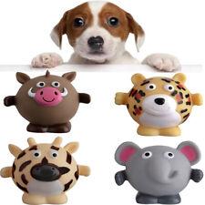 Set of 4 Wild Boar Giraffe Elephant Tiger Safari Animal Dog Squeaky Toys