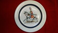 "Wood & Son plate-Officer of the 15th Hussars, 1841-Burslem England-9""-Ironstone"