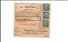 Dr/Werne (a. d. labio) 6.2.42, urgentemente-paketkte m. 515 + 4 x 525