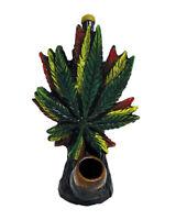 Trippy Rasta Leaf Handmade Tobacco Smoking Hand Pipe Triple Smoker Stoner Gifts