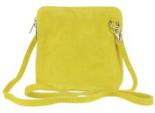 Womens Small Genuine Suede Cross Body Shoulder Bag Strap Real Italian Designer