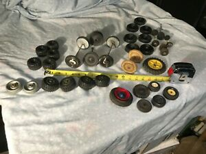 Plastic Metal Rubber Tires / Wheels  Mixed Lot Meccano + More