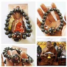 Thai Amulet Master Black Leklai Palang Lokathat Bracelet Magic Lp Yai Somporn