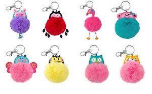 Stephen Joseph E7 Backpack Purse Pom Pom Critter Keychain SJ-1138 Choose Design