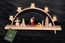 Erzgebirge Hand Made Wooden Christmas Candle Advent Arch by Glaesser-New In Box