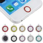 Bling Crystal Touch ID Home Button Sticker Decal For iPhone 5 6 iPad 4 mini Air